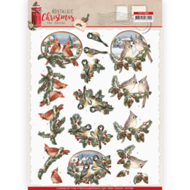 CD11560-3D cutting sheet - Amy Design - Nostalgic Christmas - Christmas Birds