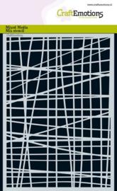 185070/1267-CraftEmotions Mask Stencil - Linienraster unregelmäßig A5