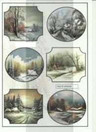 BOJE 100-NA0050-KN Winterlandschap knipvel
