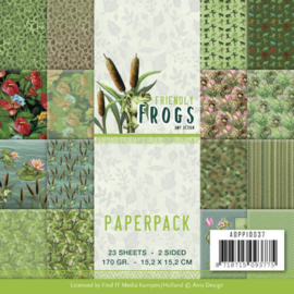 ADPP10037-Paperpack - Amy Design - Friendly Frogs