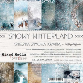 CC-ZS-SW-MM12- Craft O'Clock- Snowy Winterland- 20,3x20,3 cm
