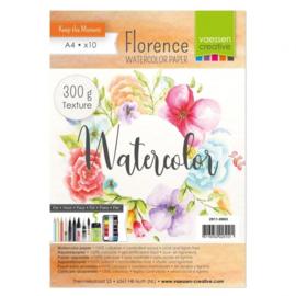 2911-0003-Florence-Aquarelpapier texture-300g-A4 10pcs