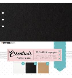 SL-PES-PLP02-SL Planner pages Black, Craft, White Planner Essentials nr.02-205x205mm -30 sheets