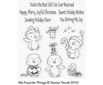 SY-01 - My Favorite Things Sweet Holiday Penguins Clear Stamps