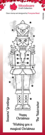 FRS398-Creative Expressions • Woodware clear stamp nutcracker