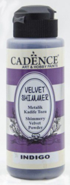801520/2005-Cadence Velvet shimmer powder Indigo-120 ml
