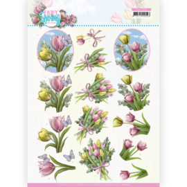 CD11653-3D Cutting Sheet - Amy Design - Enjoy Spring - Bouquets of Tulips