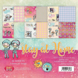 CPB-SAH15-Craft&You Stay at home- Small Paper Pad- 6x6- 36 vel