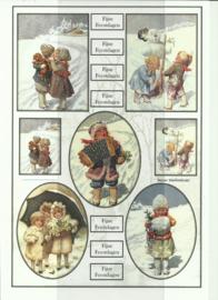 BOJE 100-NJ0036-KN Vintage kerst met tekst knipvel