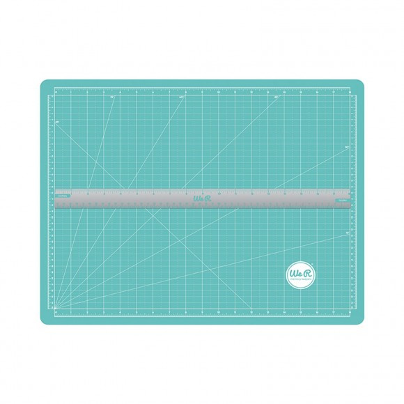 70938-1-We R Memory Keepers scallopes magnetic cutting mat & ruler