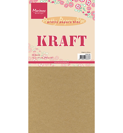 PK9109-Kraft paper-13,5x27cm, 200 grams-Marianne Design