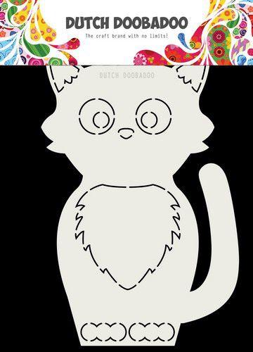 470.713.767 -Dutch Doobadoo Card Art Kat A5