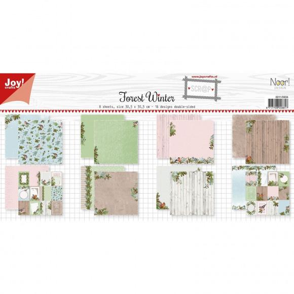 6011-0634-Joy!Crafts • Papierset Scrap - Noor - Design Forest Winter