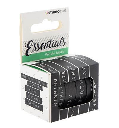 WASHISL04-Washi Tape, Essentials nr.04-Studio Light