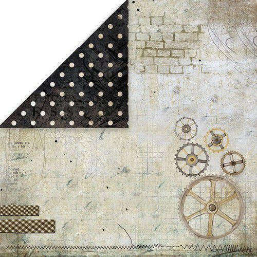 Craft&You Vintage Man Scrapbooking single paper 12x12 CP-VM02