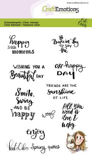 130501/1600-CraftEmotions clearstamps A6 - Kaat en Odey Spring quotes (Eng) Carla Creaties
