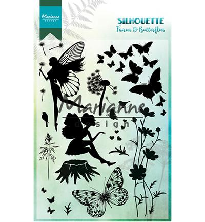 CS1016- Marianne Design clear stamps silhouette fairies butterflies