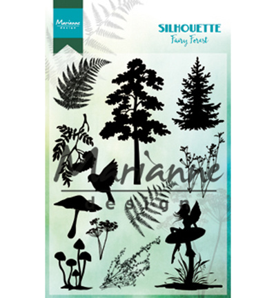 CS1013- Marianne Design clear stamps silhouette fairy forest