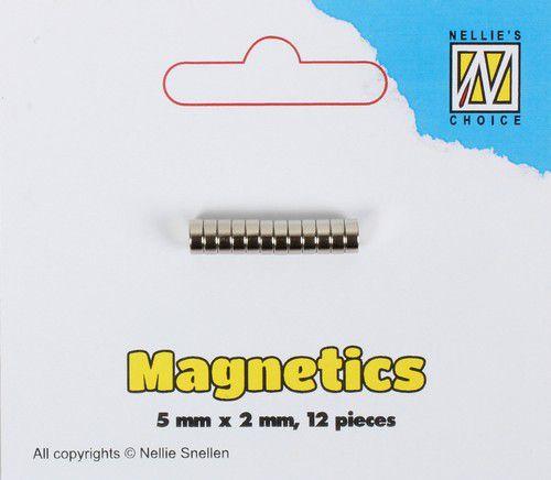 STBM002-Nellie's Choice Magneten Ø 5x2mm 12 st