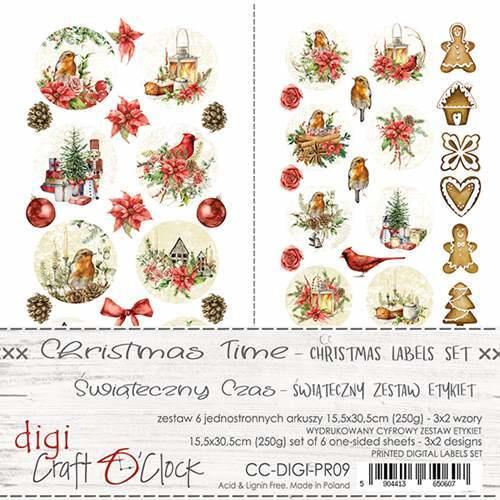 CC-DIGI-PR09 - Craft O' Clock - Christmas Time - Digi Label set