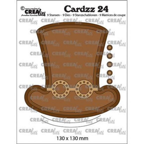 CLCZ24-Cardzz Stanz-prägeschablone Nr. 24 - Steampunk-Hut + Brille