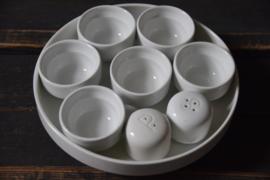 Set eierdopjes en peper en zoutstel