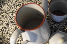 Frans emaille koffiepot