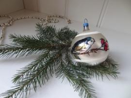 Kerstbal met vogeltje
