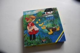 Retro puzzel Alle eendjes zwemmen in het water