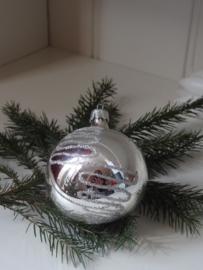 Glitter en glamour kerstbal