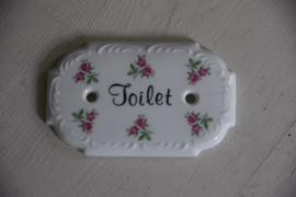 Brocante deurbordje Toilet