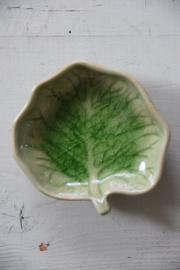 Groen blad schaaltje / zeepbakje