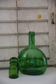 Vintage groen apothekersflesje
