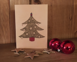 Mondkapjes kerstboom