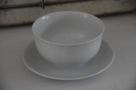Sierlijke witte sauskom