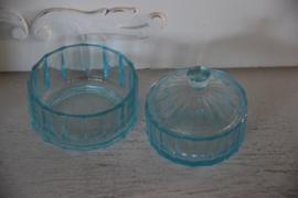 Setje blauw glas