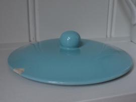Blauwe brocante schaal