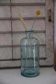 Brocante glazen fles