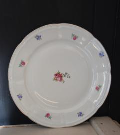 Groot bloemetjes bord
