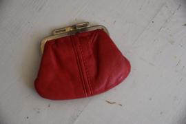 Vintage rode portemonnee