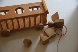 Oude houten vormen blokken kar