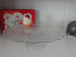 Glazen taartplateau!
