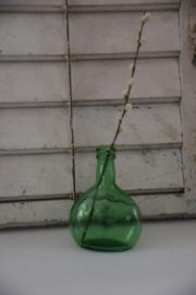 Vintage groen flesje