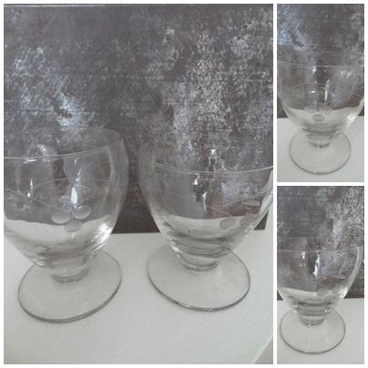 VERKOCHT Glazen glaasjes - 2012173