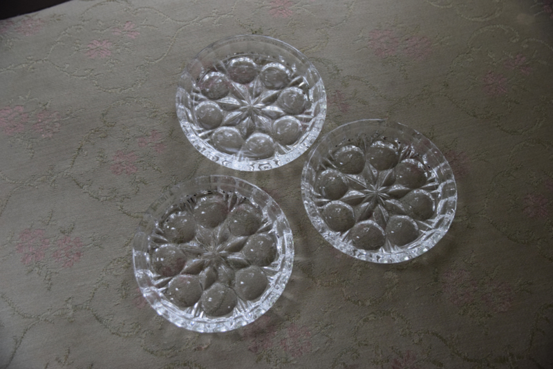 Set glazen onderzetters