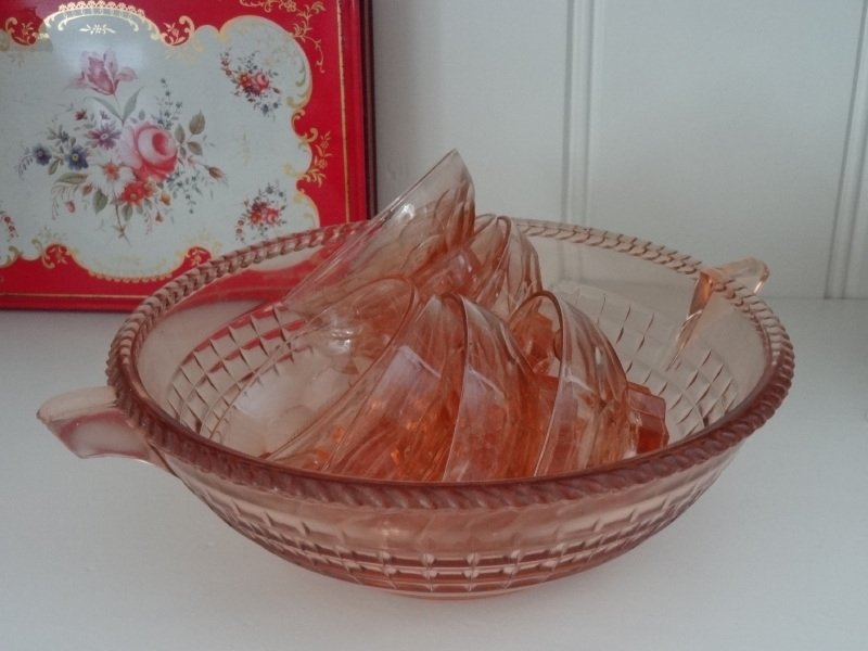 Bowlset Frans glas