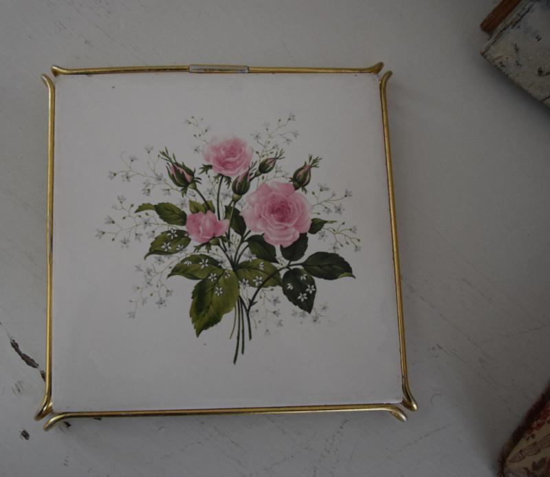 Onderzetter met roos