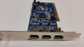Firewire/1394 kaart pci Digiconnect 3 prt.