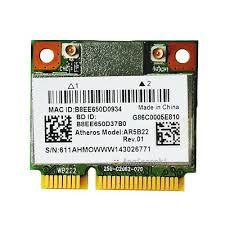 Atheros AR5B22 Dual band Wireless Half Mini PCI-E card