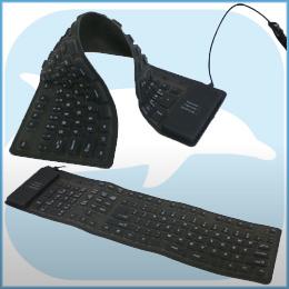 Flexibel USB Toetsenbord Full-Size Dolphix (spatwater dicht)